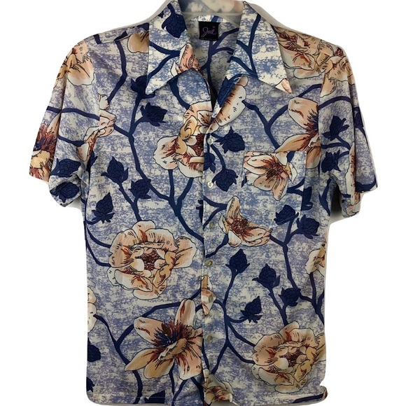 acfe0080b Vintage Shirts | Vtg Joel California Button Shirt Disco 70s Floral ...